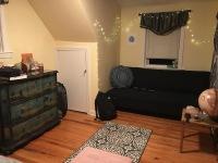 Gabby's room at her beach house