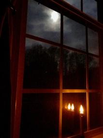 Full moon in the morning